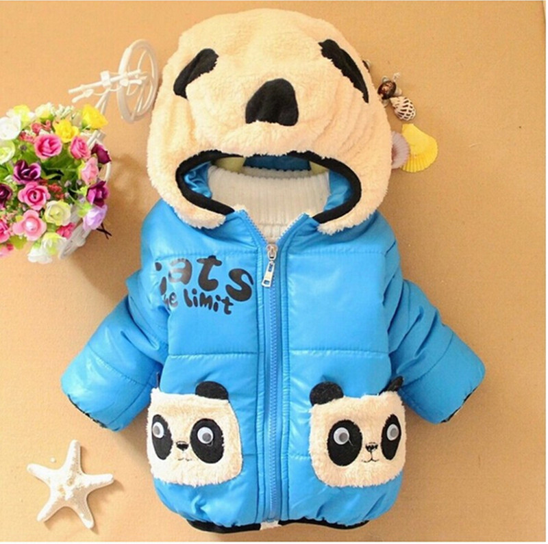 Boys Warm Jackets Children Clothing Girls Cartoon Bear Cotton Outerwear Tops Baby boys Hooded Coat Winter Kids Jacket Clothes