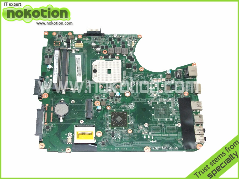 NOKOTION Laptop motherboard For Toshiba Satellite L755D Socket fs1 ddr3 A000081230 DA0BLFMB6E0 high quanlity tested ddr pc2700 512 мб для toshiba