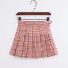 b972692182c Coréenne de la nouvelle taille haute jupe courte collège vent un mot  treillis jupe femmes(