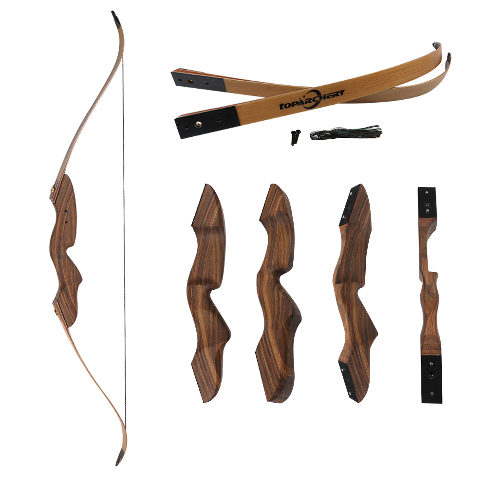 1 piece 40 lbs archery laminated wood recurve bow limbs takedown hunting natural wood texture bow полка для специй oriental way твист