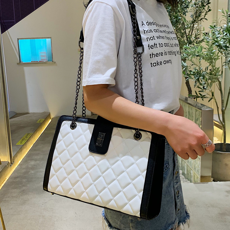 Quilted Bag Set Women 2019 Leather Tote Chain Handbag Designer Luxury Ladies Crossbody Bag Channels High Capacity Famous Handbag