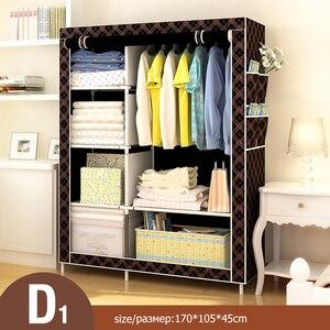 Image 4 - Bedroom Multipurpose Non woven Cloth Wardrobe Folding Portable Clothing Storage Cabinet Dustproof Cloth Closet Home Furniture