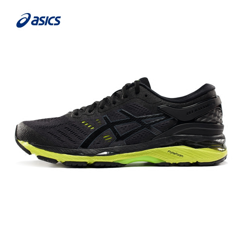 Original ASICS GEL-KAYANO 24 Men's Stability Running Shoes ASICS Sports Shoes Sneakers classic Breathable men sneakers black кроссовки asics kayano 20 21