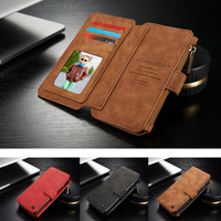Case For Samsung Galaxy S7 Edge Genuine Leather Cover CaseMe Multi Functional Stand Wallet For Samsung