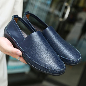 Image 5 - Brand Men Shoes Leather Casual Breathable Men Loafers Shoes Genuine Leather Soft Moccasins Driving Shoes Summer Shoes Size 47