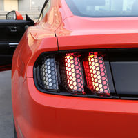 Car Exterior Accessories Rear Tail Light Lamp Honeycomb Protective Trim Cover Sticker For Mustang For Ford