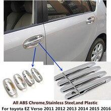 Copertura auto Styling rivelatore telaio lampada di pannello trim ABS chrome maniglia di portello/ciotola per toyota EZ Verso 2011 2012 2013 2014 2015 2016