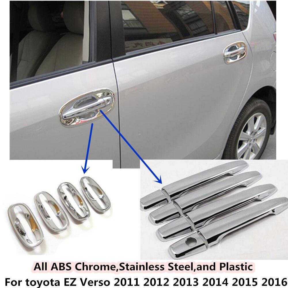 Couverture de voiture Styling détecteur cadre panneau lampe garniture ABS chrome porte poignée/bol pour toyota Verso EZ 2011 2012 2013 2014 2015 2016