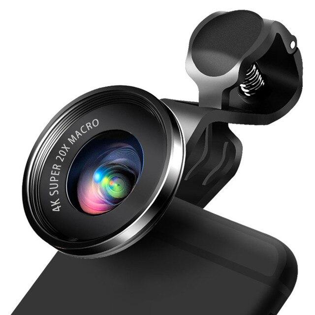 Mini 4K HD Super 20X Micro Phone Lens Wide Angle for Smartphone Camera 2019 New