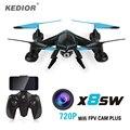 2017 Nueva X8SW Wifi Drone RC quadcopter con 720 p Wifi FPV cámara HD O 1080 P HD Cámara Sin Cabeza Quad copter helicóptero