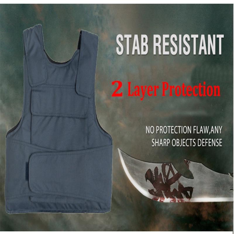 2017New 2 Layer Stab Resistant Vest Soft Self-Defense Police Use Security Tactical Chutz Weste Tatico Anti Stab Covert Stab Vest greenbean stab 100 черный