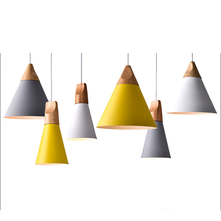 modern pendant lights nordic led lamp christmas decorations for home lighting wood lamps for living room with lampshade - Christmas Decorating Pendant Lights