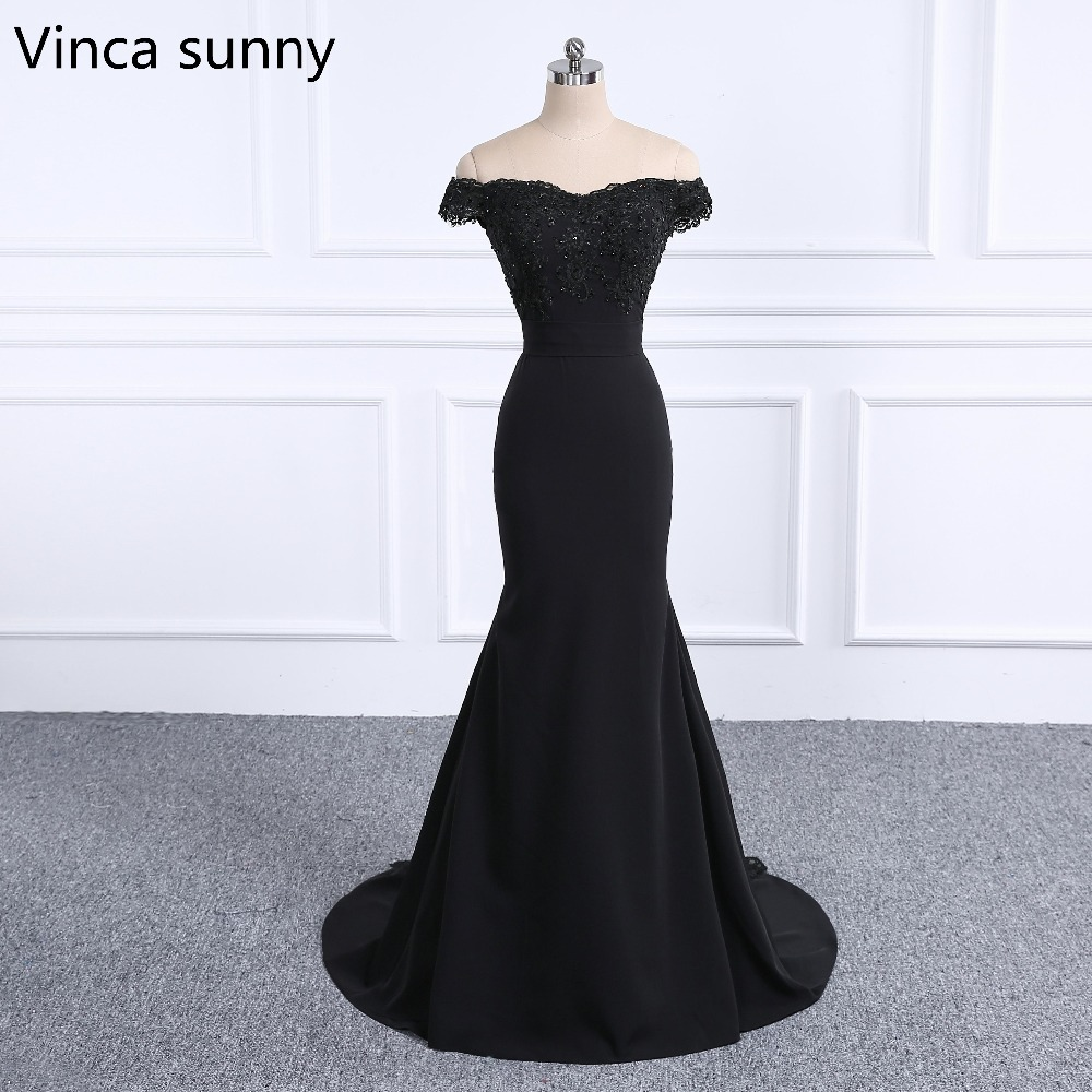 Elegant vestido de festa de casamento 2018 Black bridesmaid dresses long Mermaid robe demoiselle d'honneur Custom Made vestido