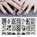 JQL-Nail Stamping Plates Stencils for Nails Art Lace Flower Animal Pattern Templates for Gel Polish