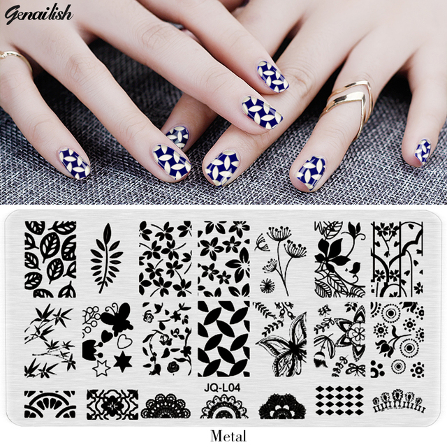 JQL Nail Stamping Plates Stencils for Nails Art Lace Flower Animal ...