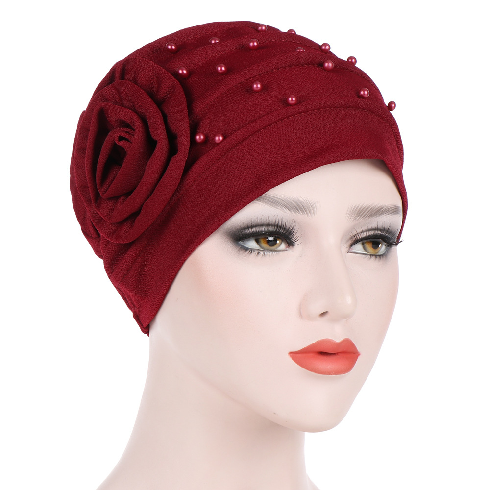 Women's Hijabs Turban Elastic Cloth Head Cap Hat Ladies Hair Accessories Muslim Cap Women Solid Muslim Turban Indian Cap