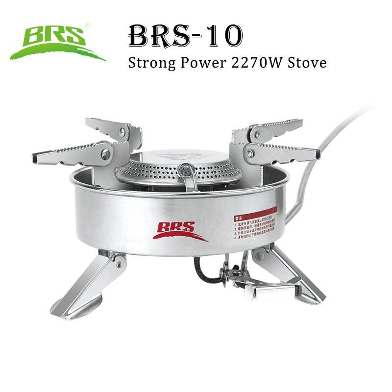 BRS-10 Camping extérieur cuisinière à gaz forte puissance 2270 w Butane grand poêle à brasier pour randonnée pique-nique pêche