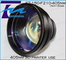 405nm 3d printer scann lens FT-150-F210-405nm size 150*150mm 110*110mm