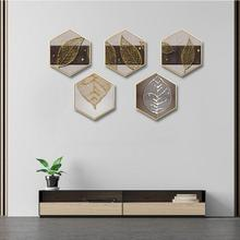 Creative INS Gold foil leaves abstract home living room background wall painting corridor mural Hotel decorative