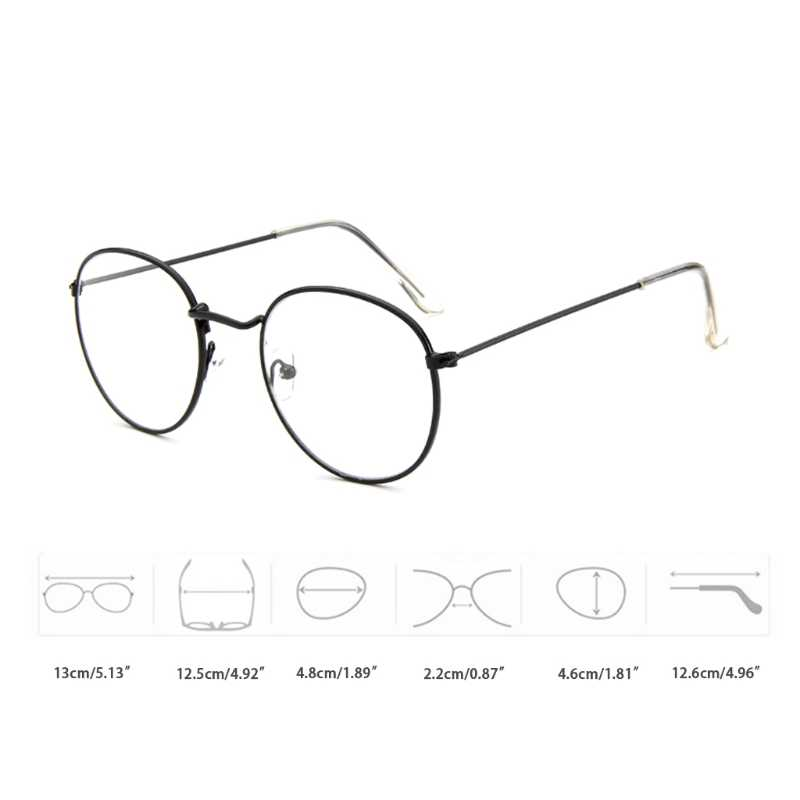 45cf54bc08d ... Men Women Vintage Eyeglass Metal Frame Glasses Round Spectacles Clear  Lens Optical New Fashion Unisex Eyeglasses ...