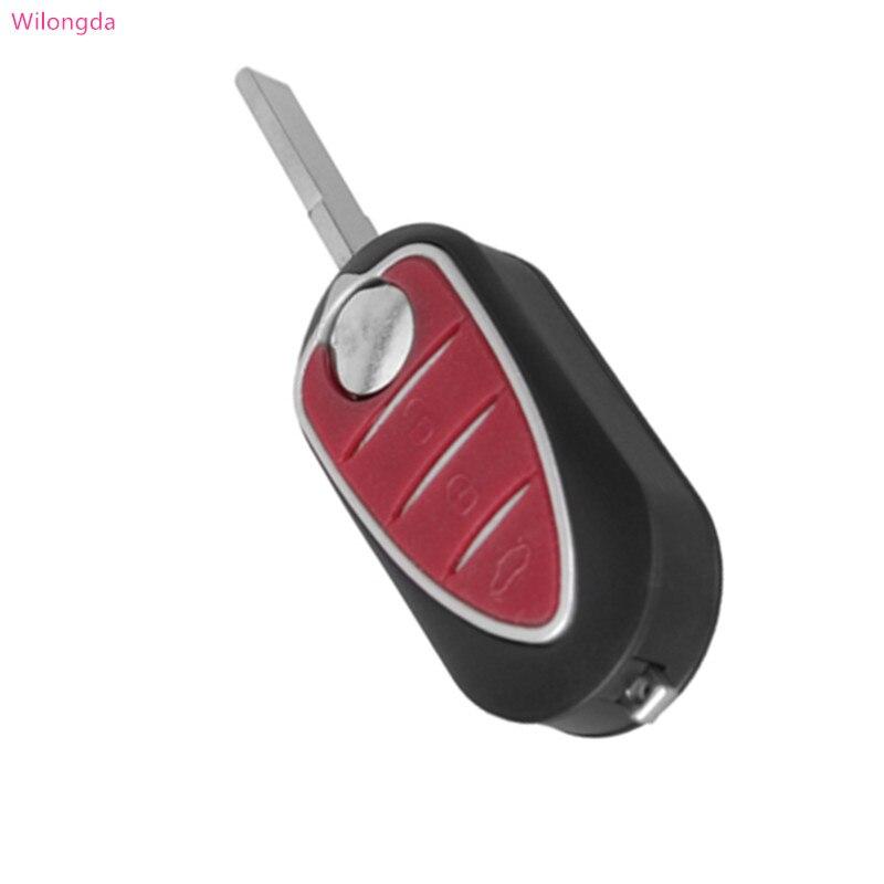 Wilongda Keyless key shell 3 Button Flip Remote Key case SIP22 blade for for Alfa Romeo