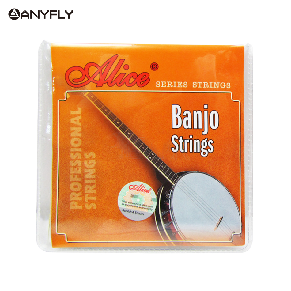 Alice AJ04 AJ05 4 Strings Or 5 Strings Banjo Strings Stainless Steel Coated Copper Alloy Wound