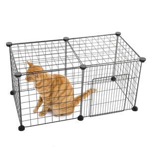Image 3 - Clôture de jeu pour animaux domestiques, Cage repliable en fer pour chiot, chat, niche, lapins, cochon, petits animaux, entraînement et exercices