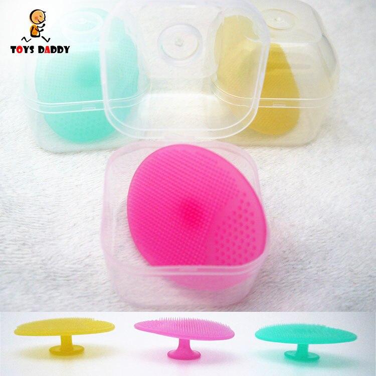 Bebé de silicona suave champú cepillo de baño cepillo del masaje Belleza Limpiadora-2454