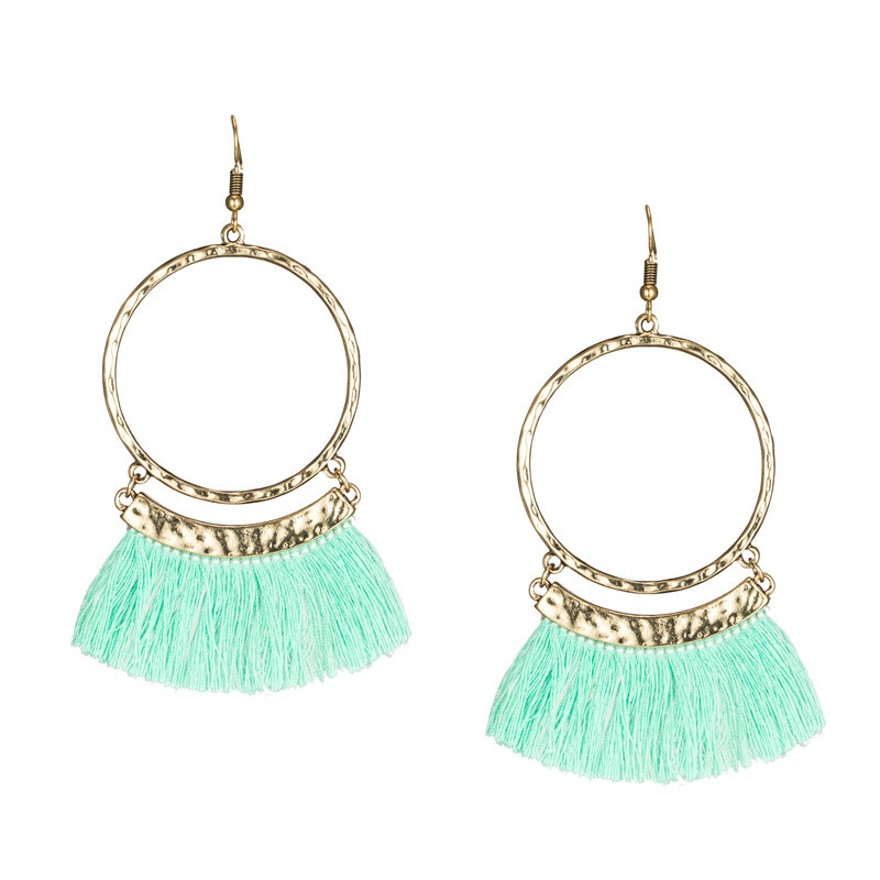 Ruberthen Hot Sale Women`s Bohemia Tassel Earrings High Quality Yoga Earrings Jewelry New Design Earrings Best Gift For Girls