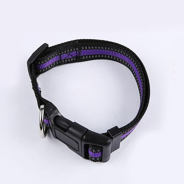 Collare di cane di Nylon Riflettente Collari Pet Notte di Sicurezza Piccolo Medio Grande cane Collare regolabile pet Collari per cani di piombo a piedi