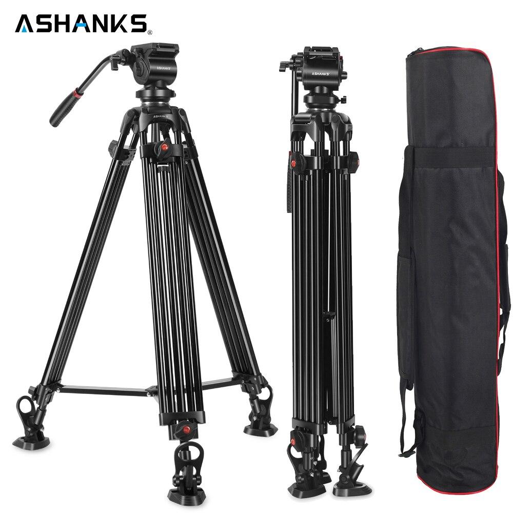 ASHANKS 0508A 5KG trípode profesional de la cámara/trípode de vídeo/Dslr vídeo trípode Fluid Head amortiguación para vídeo