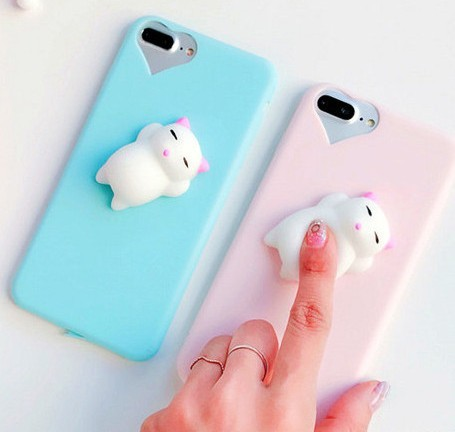 Squishy Mobile Phone Case 3D Cute Sleep Cat Phone Cover for iPhone 6s 6 6  Plus 22a5adbfc
