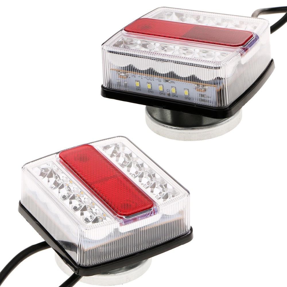Voiture camion gauche droite feux de remorque LED feux arrière feux d'avertissement feux arrière avec aimant kit feu arrière pour remorque