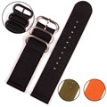 Wholesale High Quality 20mm 22mm 24mm Two Parts Nylon ZULU Watch Band for Military Watch with Black Buckles
