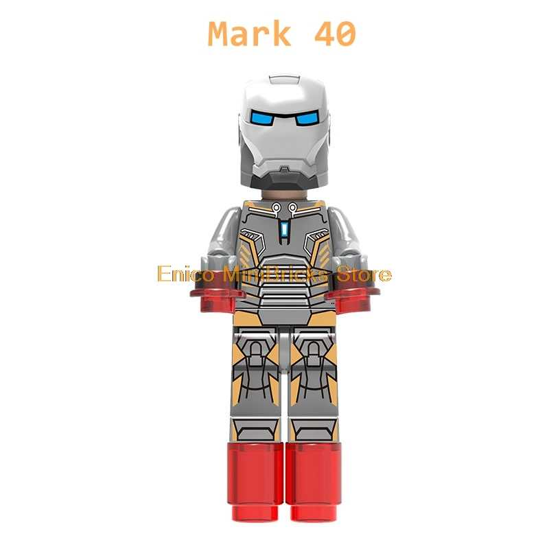 Мстители эндгейм Железный человек Марвел Супергерои Железный человек Марка 1-7 Марка 50 фигурки экшн строительные блоки модель игрушки для детей