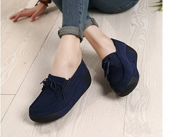 Spring/Autumn unisex genuine leather suede ankle boots shoes mens platform wedge casual shoes zapatos mujer 1319 size 35-40