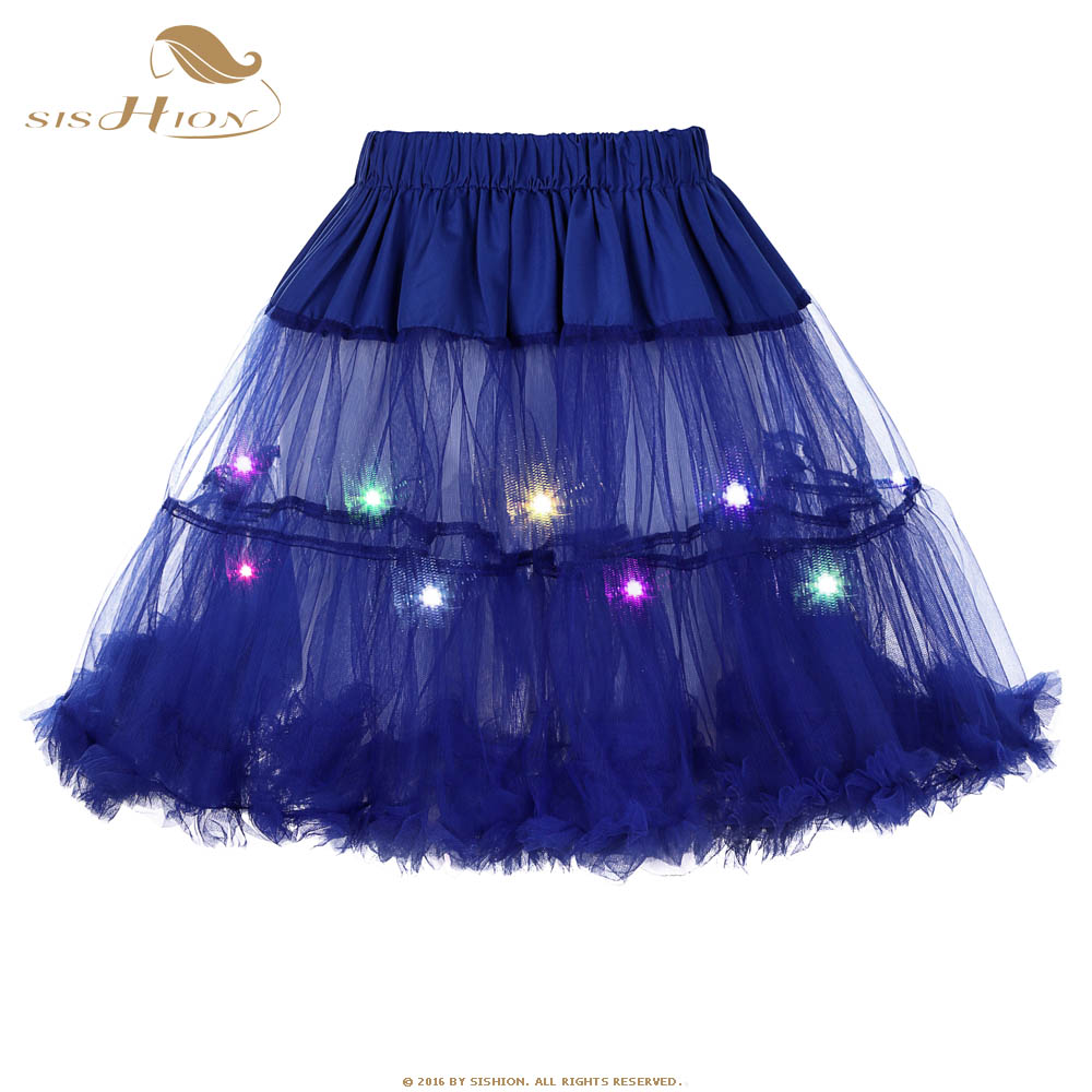 Girls' Baby Clothing 13 Colors Child Girl Led Light Up El Wire Mini Tutu Skirt Ballet Dance Layered Candy Color Fancy Stage Puffy Tulle Pettiskirt