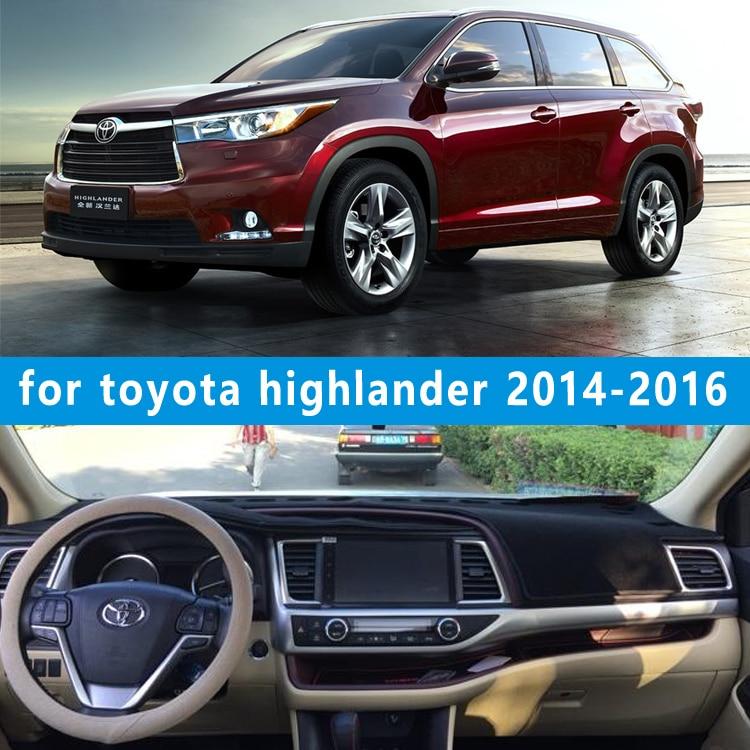 Accessoires de décoration de voiture dashmats couverture de tableau de bord pour Toyota Highlander Kluger xu50 2014 2015 2016 2017
