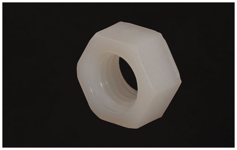 Nylon Écrous hexagonaux M2 M2.5 M3 M4 M5 M6 M8 M10 M12 M14 M16 M18 M20 blanc noix écrous en plastique pour vis