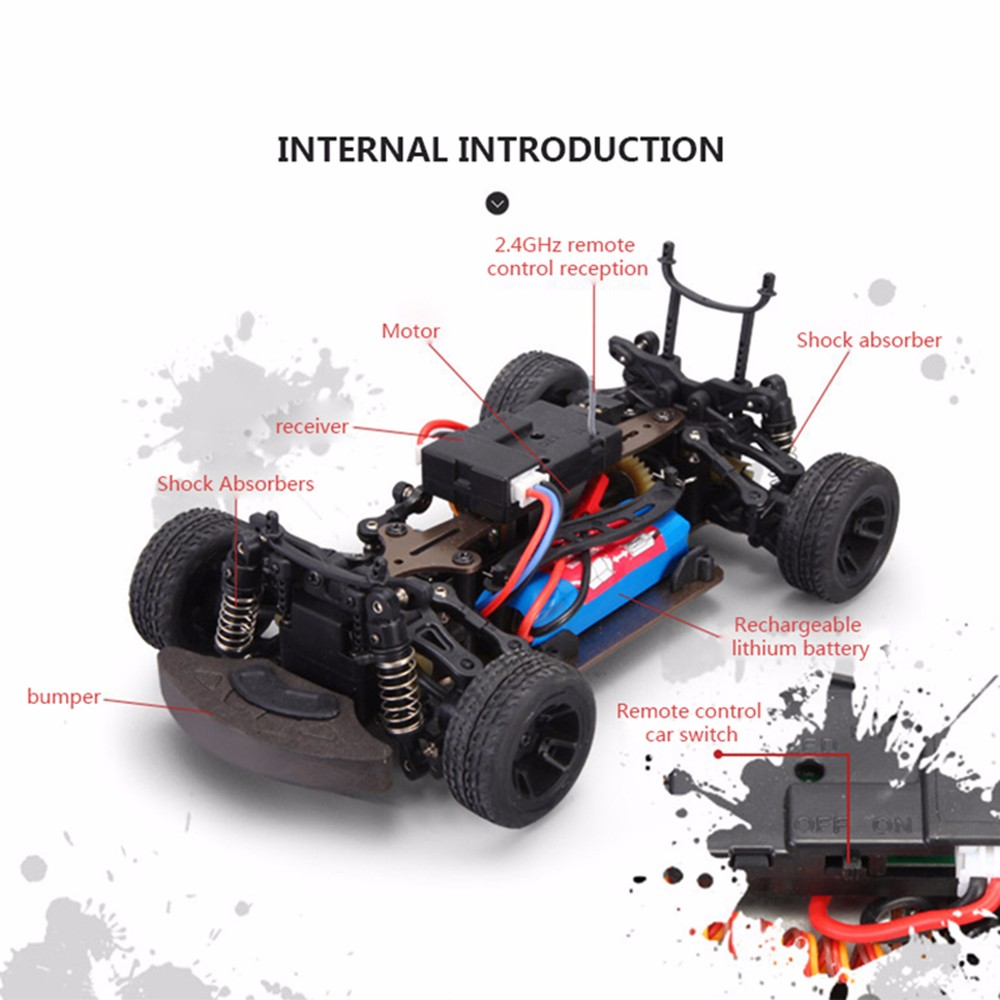 wltoy K999 rc car 1 28 off road vehicle 2 4G electric four wheel drive remote control car alloy chassis climbing car speed 35km in RC Cars from Toys Hobbies
