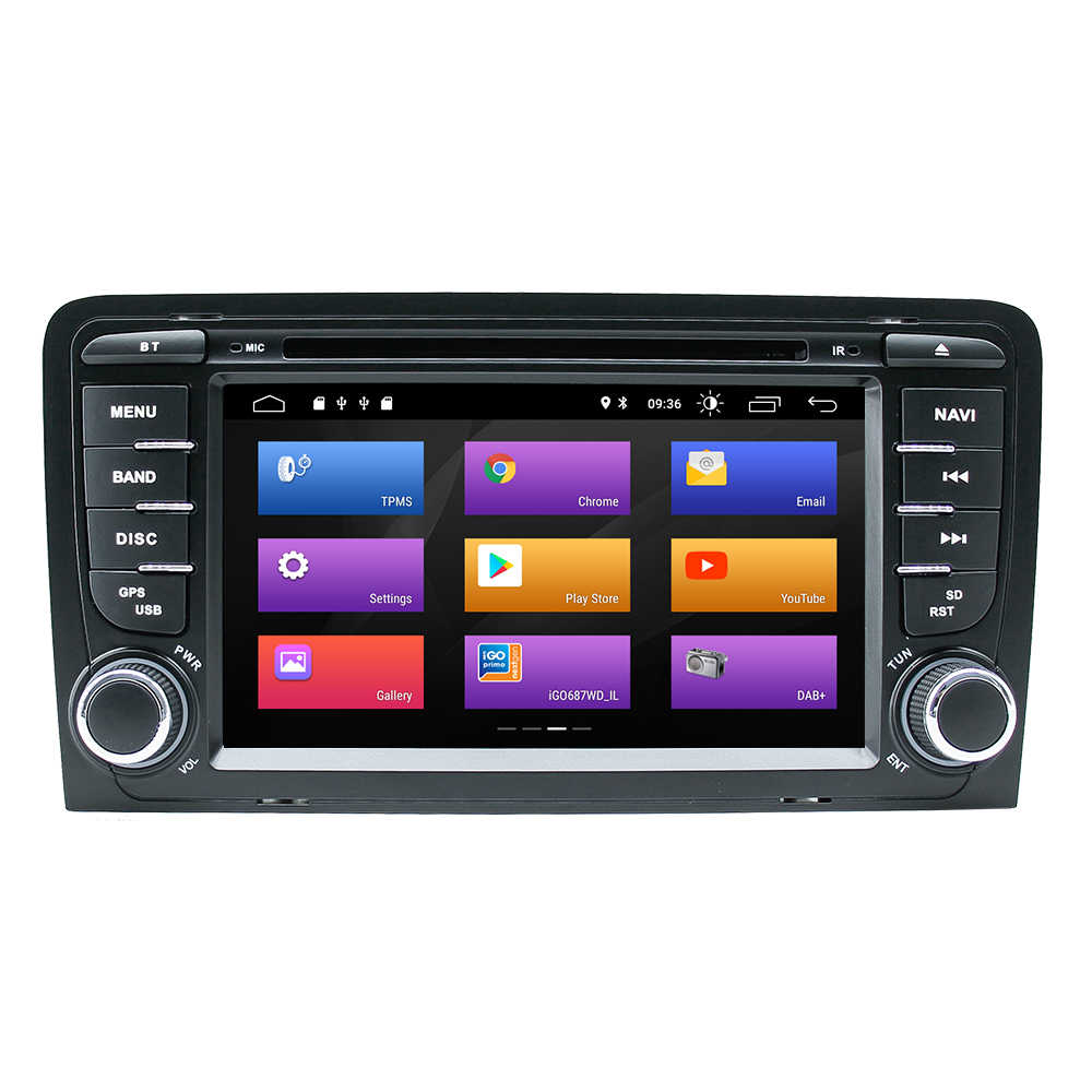 AutoRadio アウディ A3 2Din アンドロイド 9.0 車のマルチメディアプレーヤー 8 1080P S3 RS3 スポーツバック 2003 2004 2005 2006 2007 2008 2009 2010 2011GPS