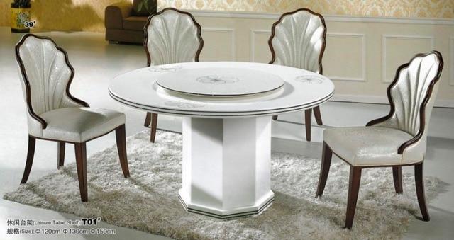 Marbre salle à manger meubles dans Table de salle à manger de ...