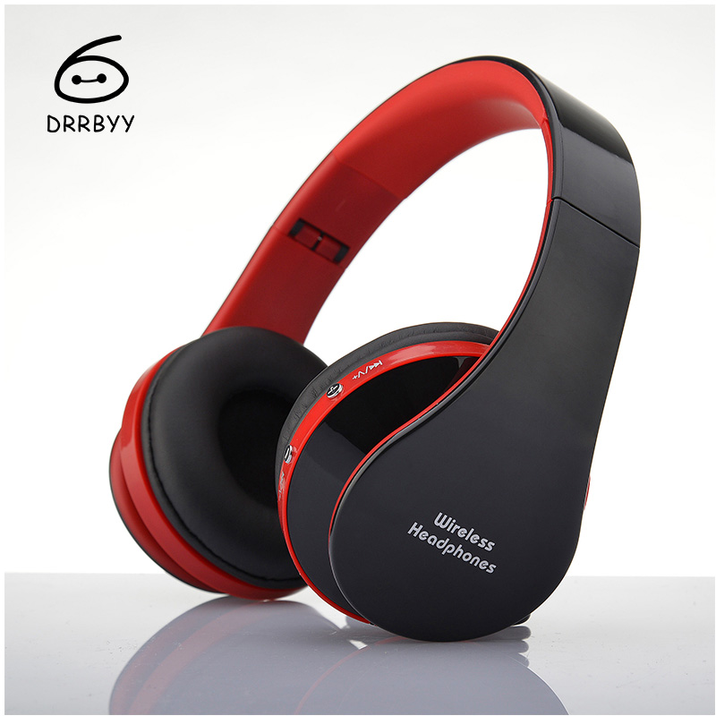 Foldable Wireless Bluetooth Headphones V3.0+EDR Bass Stereo With Mic Sport Headset For iPhone Samsung LG HTC & PC Tablet Laptop