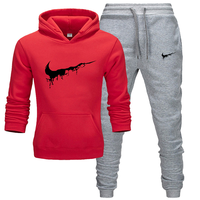 Sportswear Suit 2019 Warm New Sweatshirt Autumn And Winter Long-sleeved Large Size Cotton Casual Two-piece Hoodie