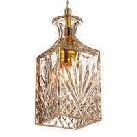 CafeRoom Bar Lamp Single Glass Pendant Lamps Minimalist Vintage Wine Bottle Pendant Lights Modern E27 Decoration