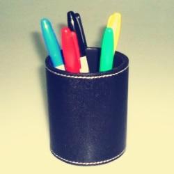 Color Pen Prediction Leather Pen Holder magic tricks magic props