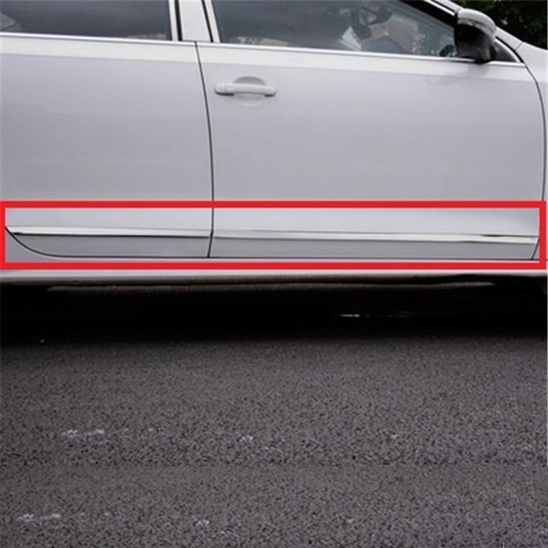 Grade de Janela de cromo Auto Corpo Modificado Carro Arrojado Exterior Styling Molduras Peças Acessório 18 19 PARA Volkswagen Jetta