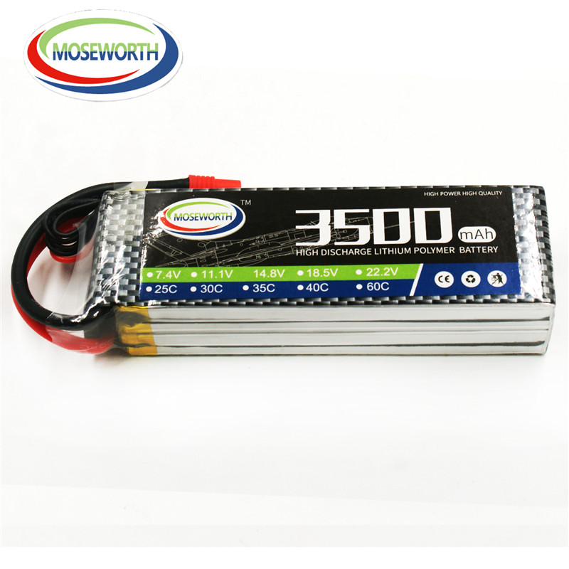 MOSEWORTH 4S 14.8V 3500mah 40c RC lipo battery for rc airplane drone car Li-ion batteria 4s free shipping mos 2s rc lipo battery 7 4v 2600mah 40c max 80c for rc airplane drone car batteria lithium akku free shipping