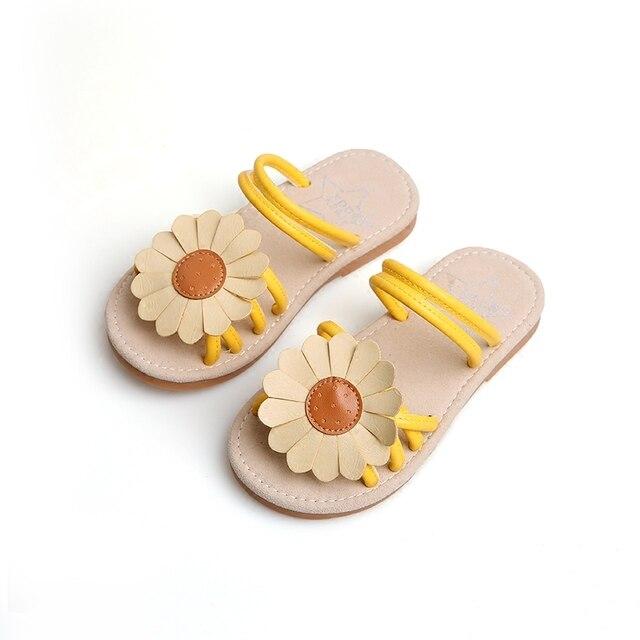 60655a173 Niña zapatillas de Verano Sandalia de Niños Flores Niñas Gladiador Sandalias  De Goma De Goma Zapatos