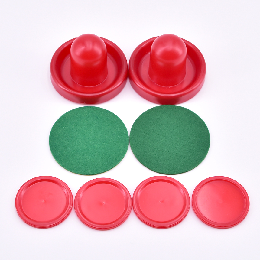 Air Hockey Accessories 76mm Goalies & 52mm Puck Felt Pusher Mallet Adult Interactive Table Games Entertainment Toys for Family